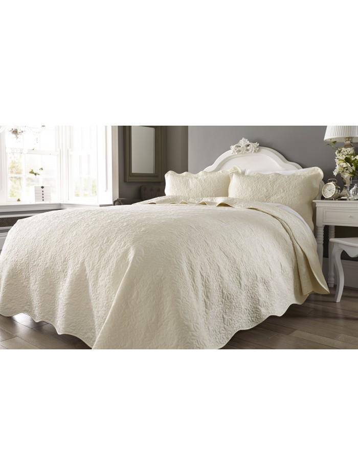 Erin Floral Bedspread Cream
