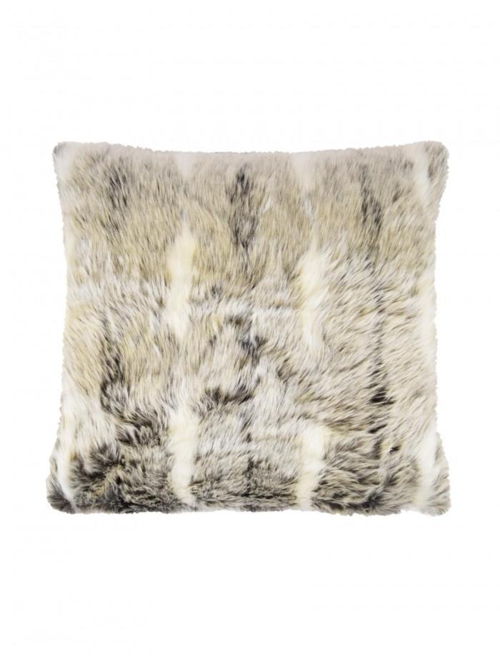 Faux Fur Cushion Grey