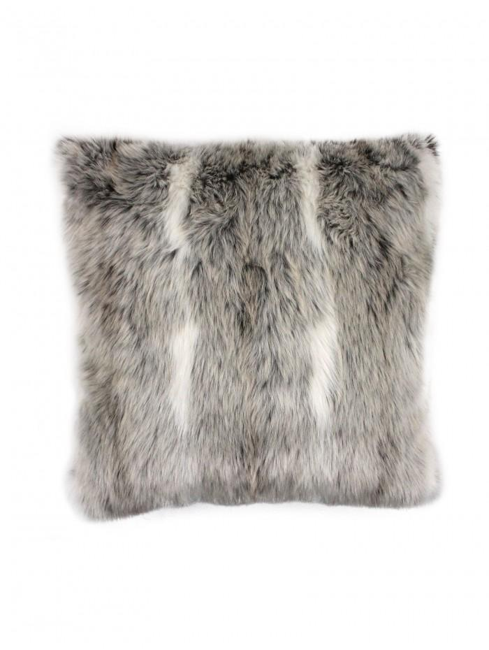 Faux Fur Cushion Grey