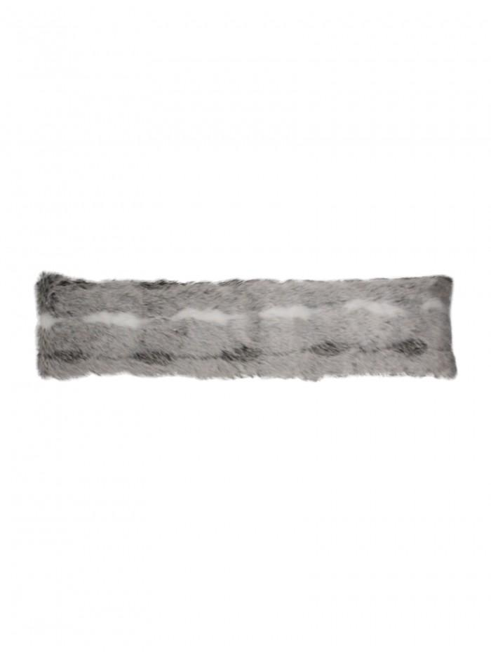 Faux Fur Draught Excluder Grey
