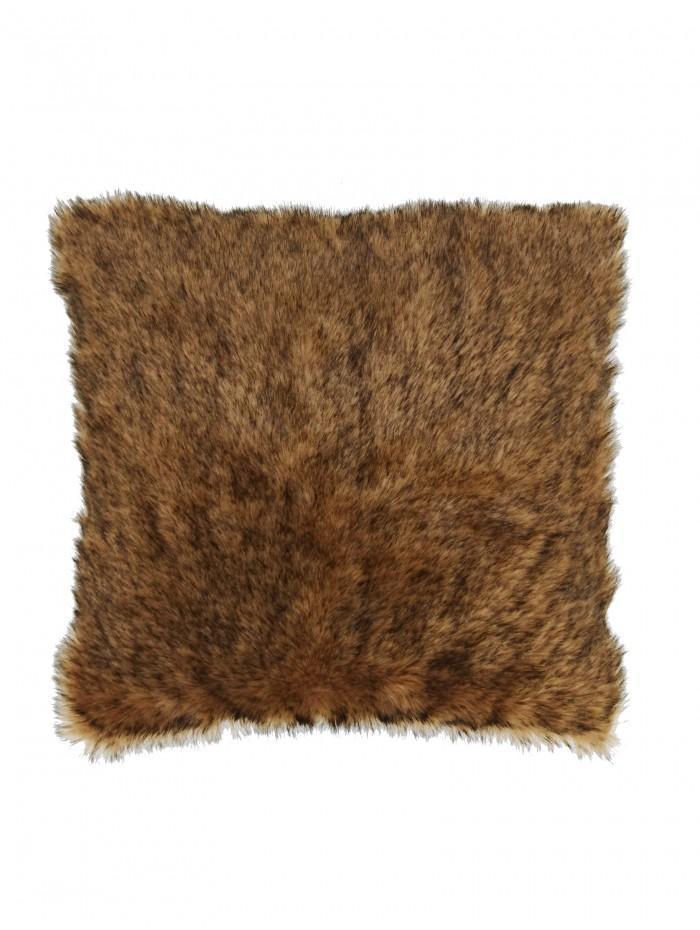 Faux Fur Cushion Brown