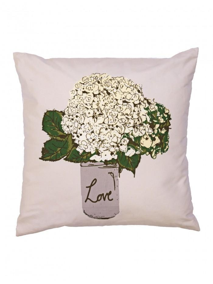 Flowers In A Vase Cushion Natural