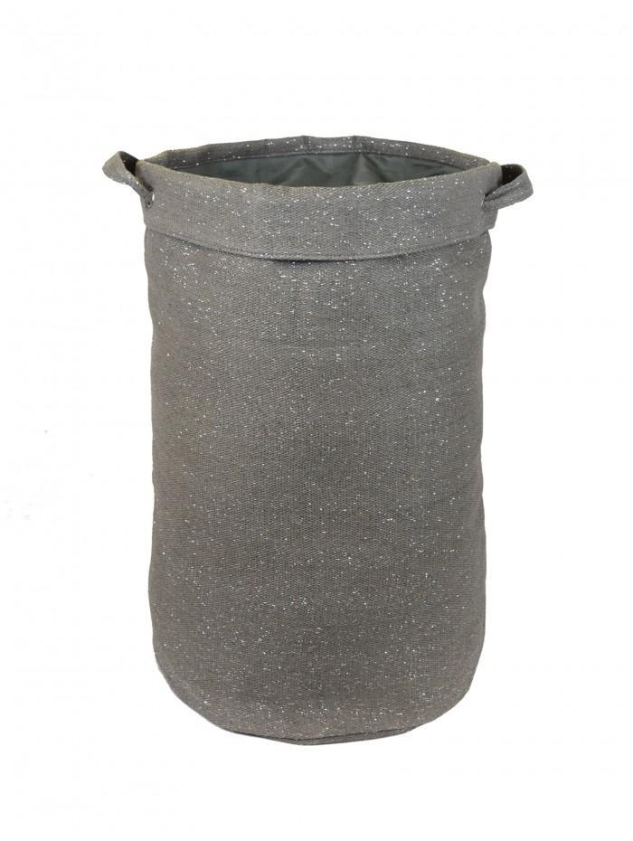 Life From Coloroll Glitter Laundry Bag, Grey