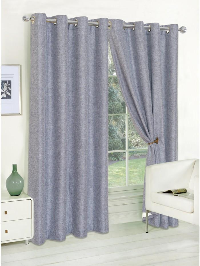 Grayson Eyelet Curtains Blue