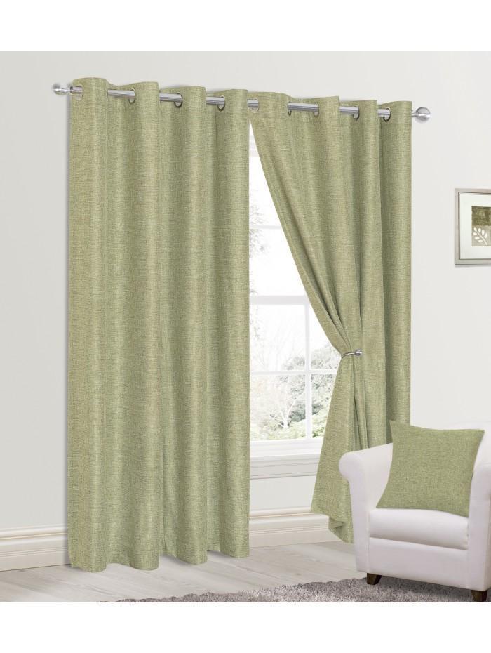 Grayson Eyelet Curtains Green