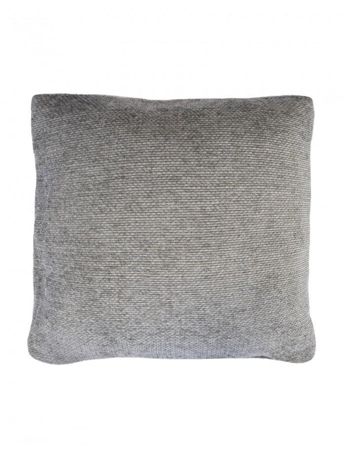 Plain Chenille Cushion Grey