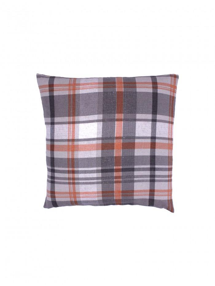 Hamilton Check Printed Cushion Orange