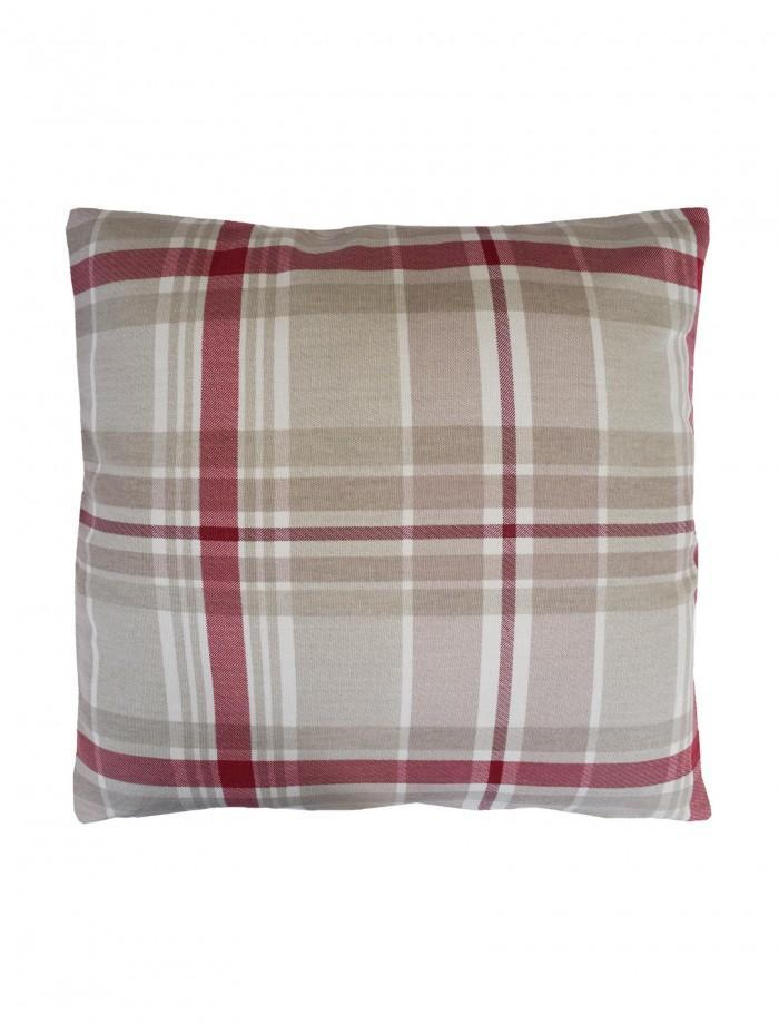 Hampton Check Cushion Red