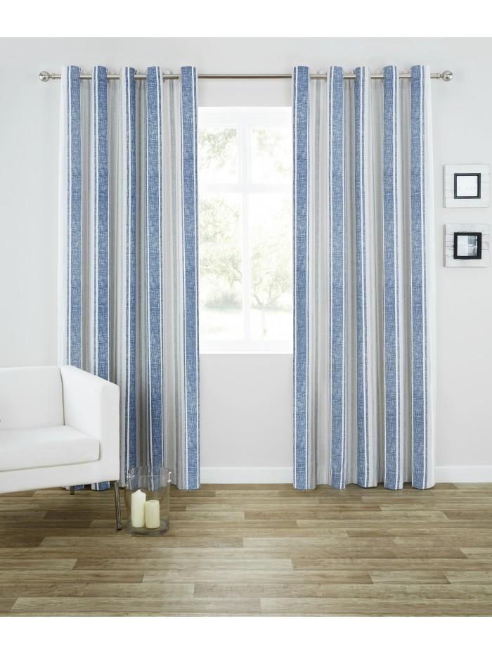 Harbour Stripe Eyelet Curtains