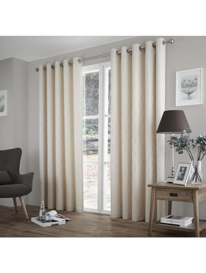 Curtina Harlow Eyelet Curtains Cream