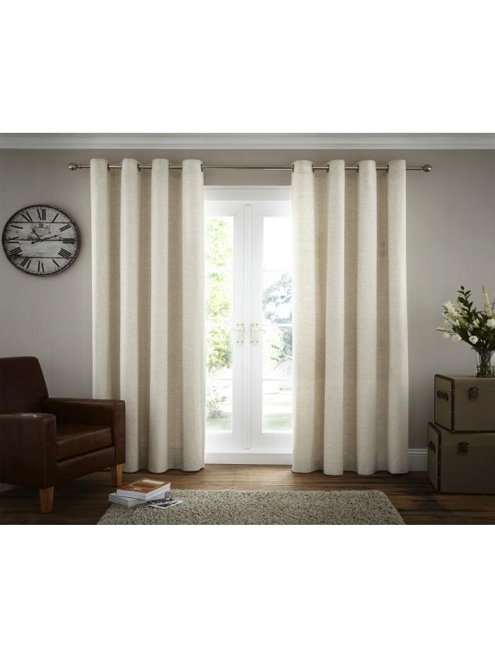 Harper Eyelet Curtain Natural