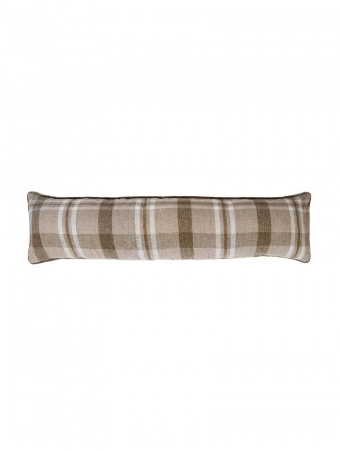 Harris Check Draught Excluder Natural