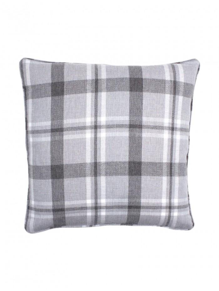 Harris Check Cushion Grey