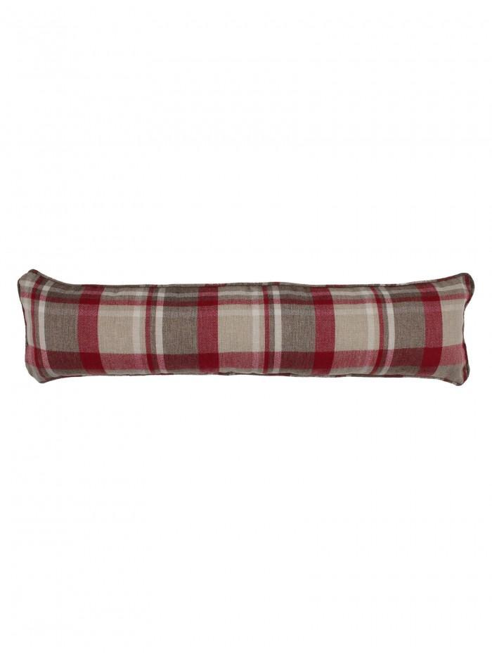 Harris Check Draught Excluder Red