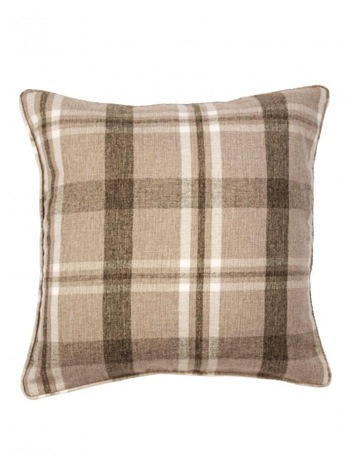 Harris Check Cushion Natural