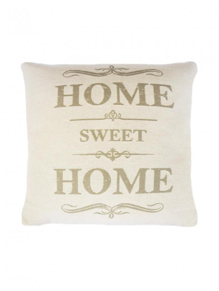 Home Sweet Home Cushion Natural