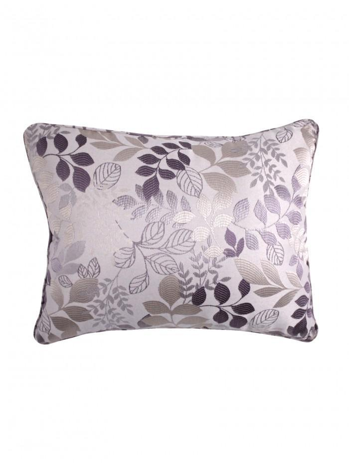 Jules Leaf Jacquard Cushion Heather
