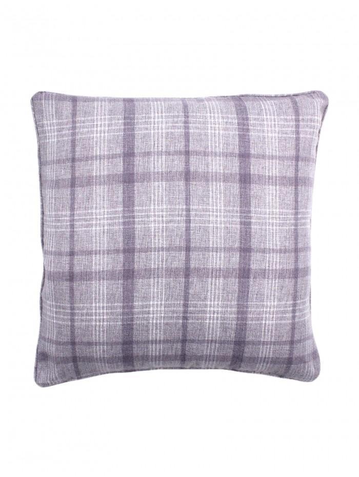 Kinley Check Cushion Heather