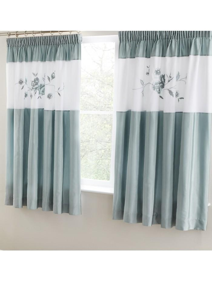 Laura Rose Panel Curtain Duck Egg