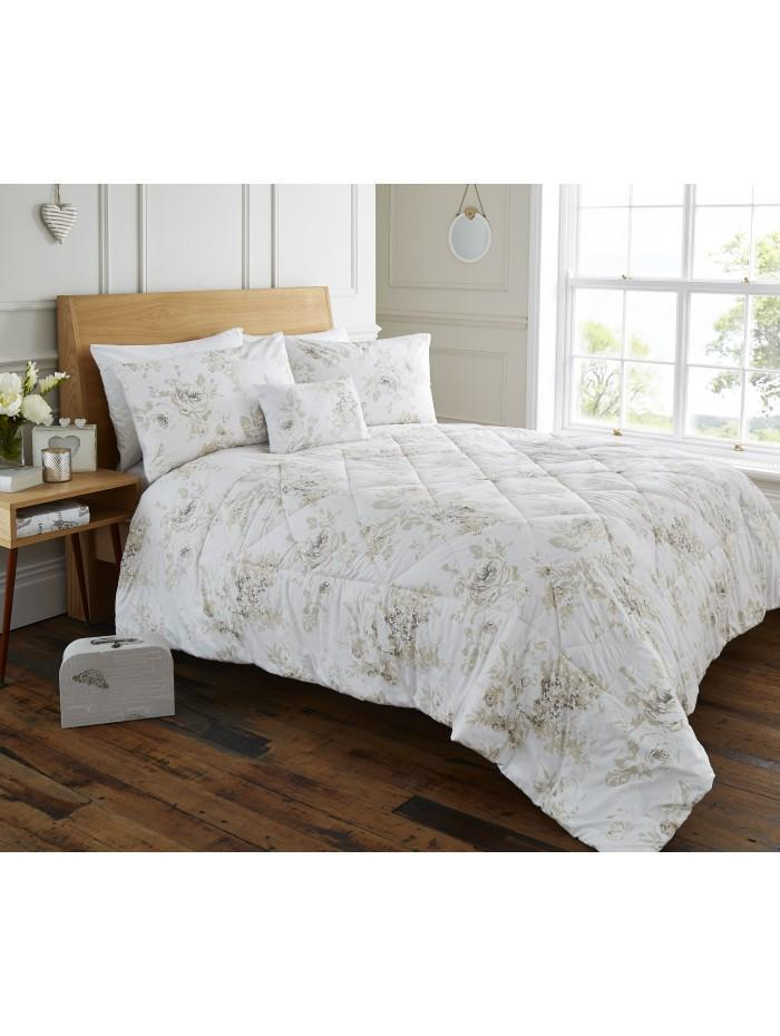 Layla Floral Bedspread White