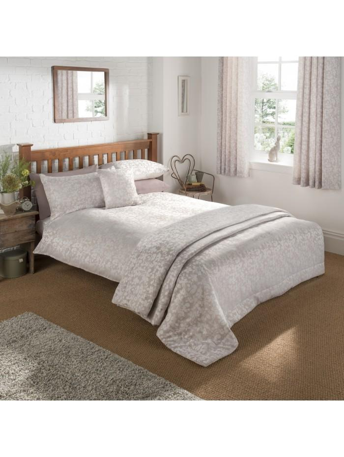 Leaf Trail Jacquard Duvet Set Natural