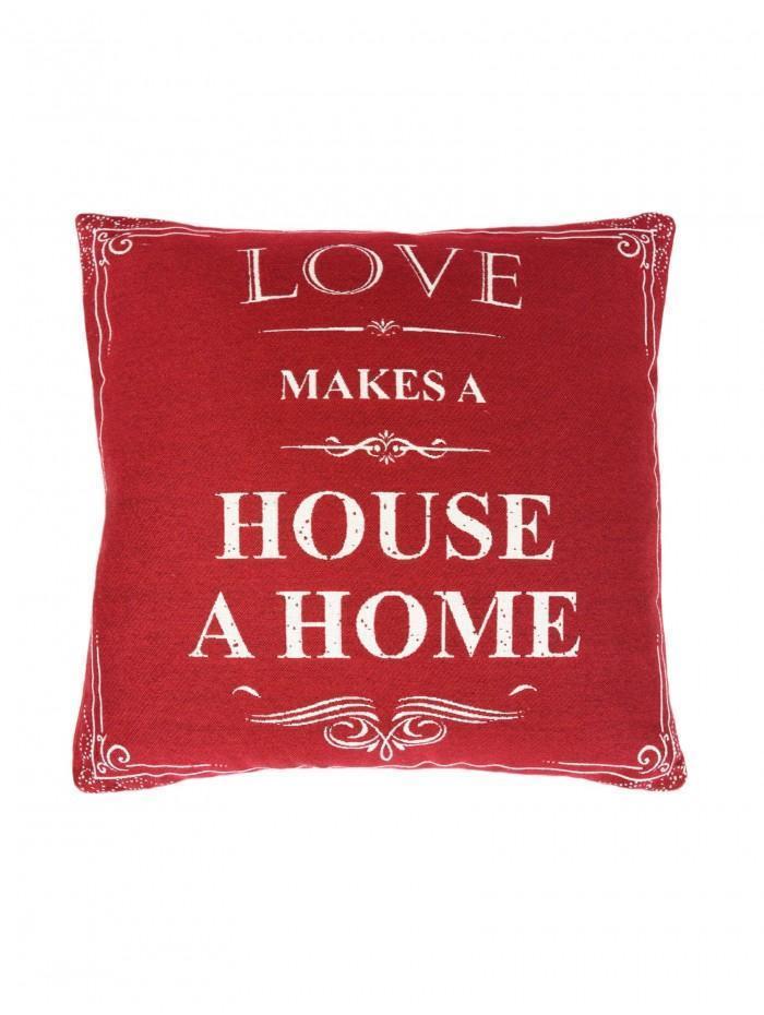 Love Makes A House A Home Cushion Red