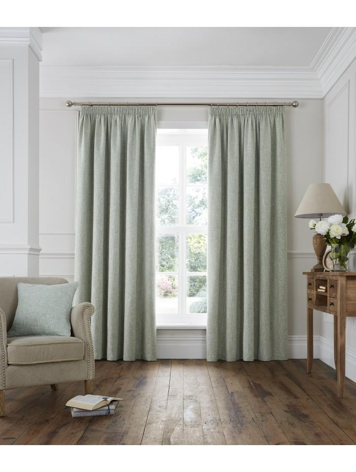 Lucerne Pencil Pleat Curtains Green