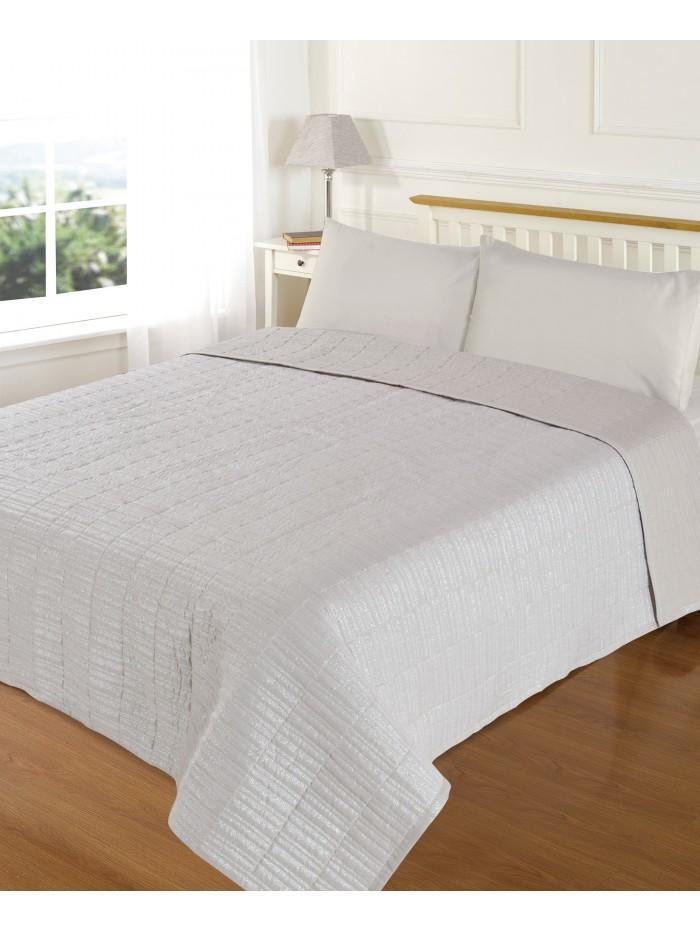 Hotel Lurex Bedspread Cream