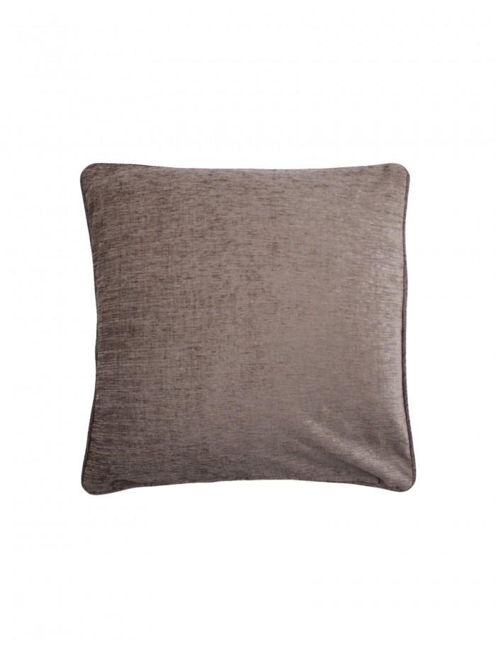 Large Luxury Chenille Cushion Taupe