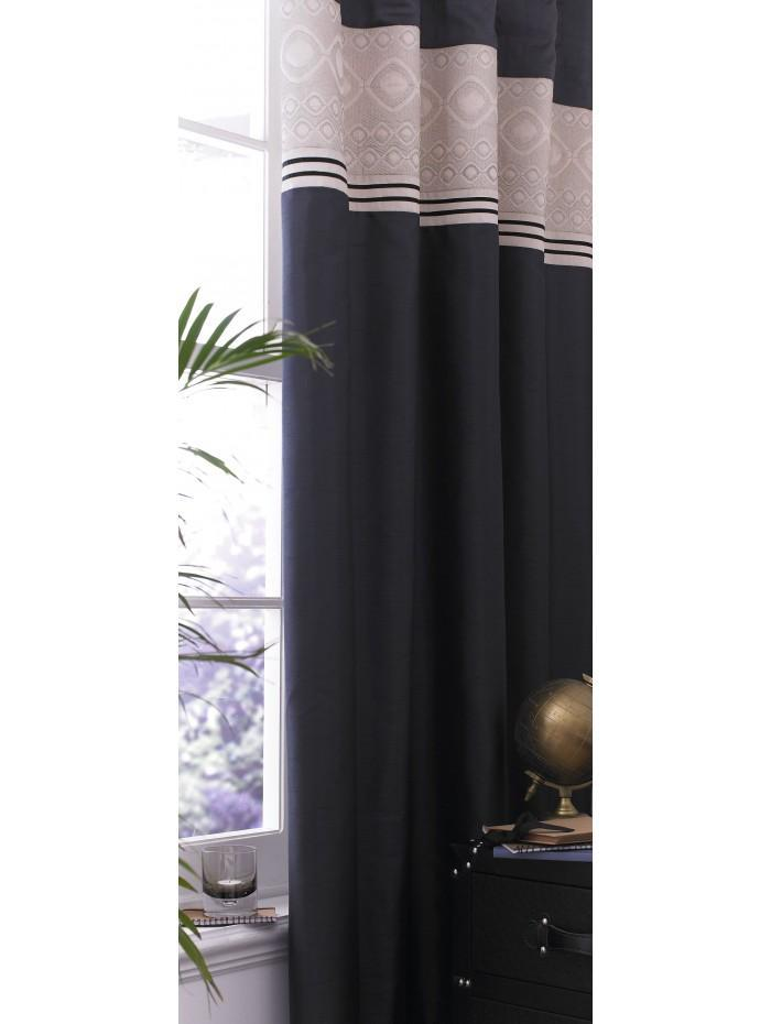 Luxury Geo Curtain Black