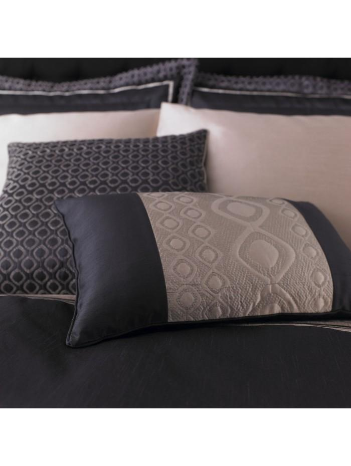 Luxury Geo Cushion Black
