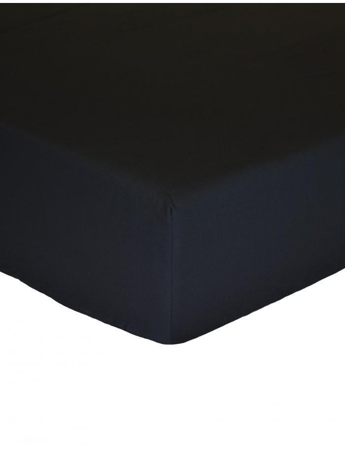 Luxury Percale 200 Thread Count Box Pleat Valance Sheet  Black