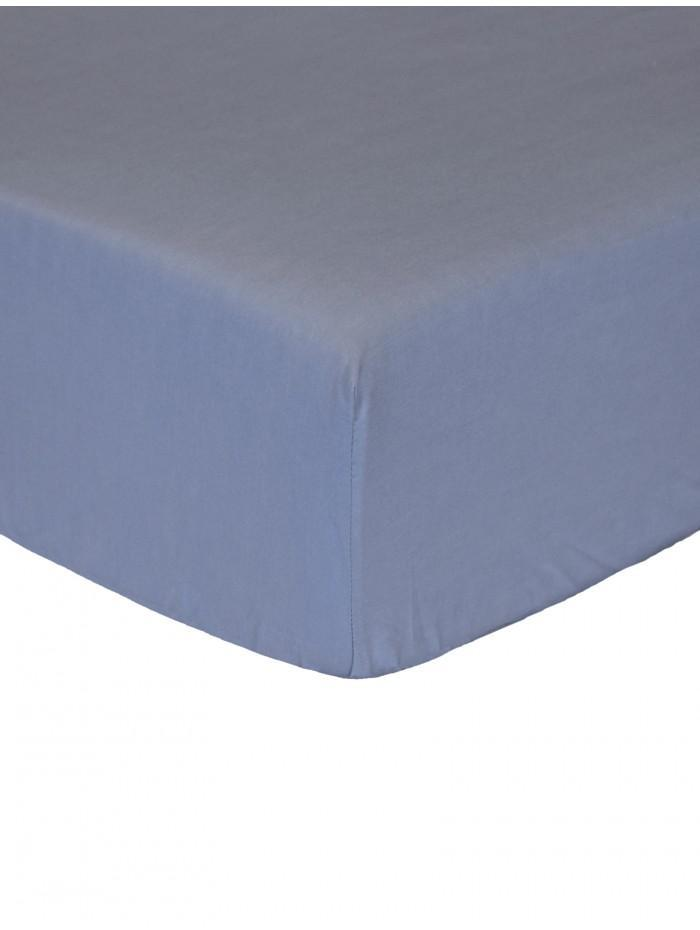 Luxury Percale 200 Thread Count Box Pleat Valance Sheet  Denim Blue