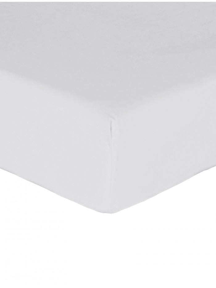 Luxury Percale 200 Thread Count Box Pleat Valance Sheet White