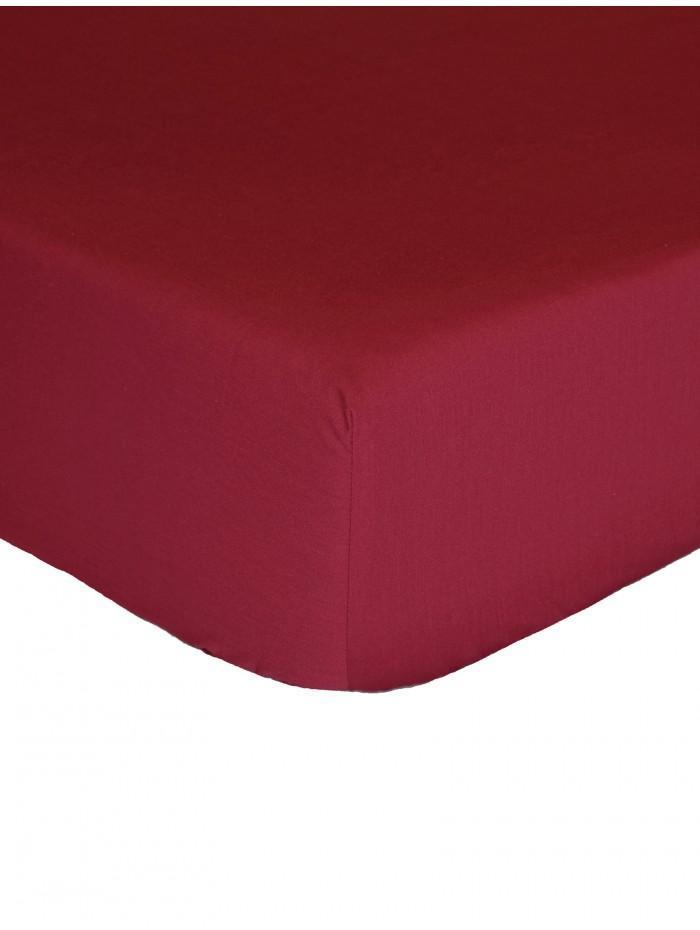 Luxury Percale 200 Thread Count Box Pleat Valance Sheet  Wine