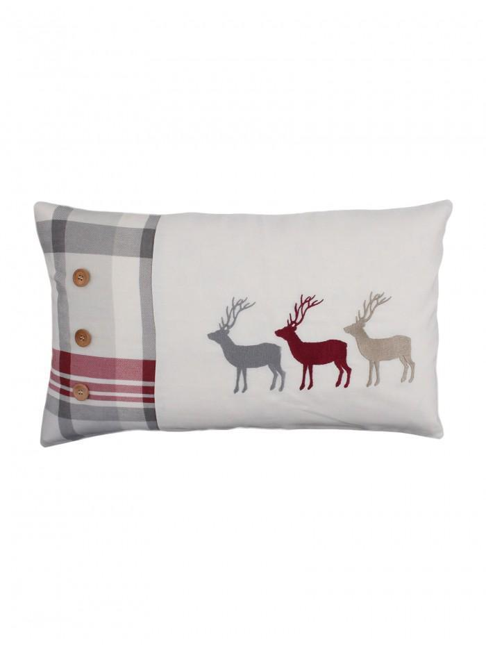 Multi Stag Printed Cushion Natural