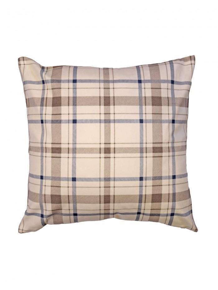 Natural Check Cushion Natural