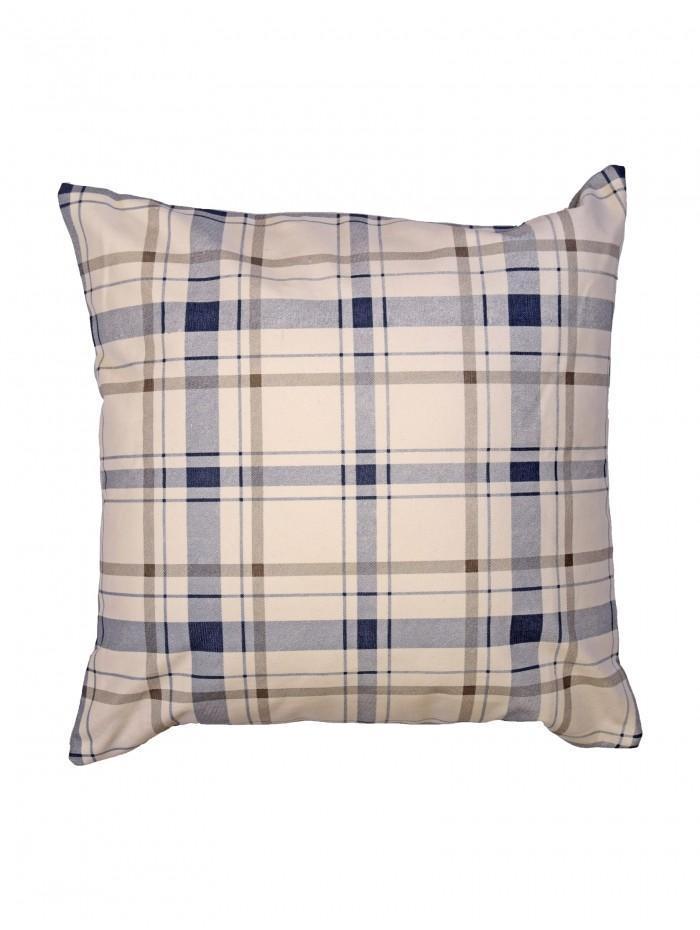 Nautical Check Cushion Blue