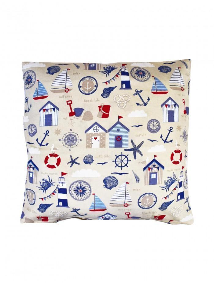 Picnic Print Cushion Navy