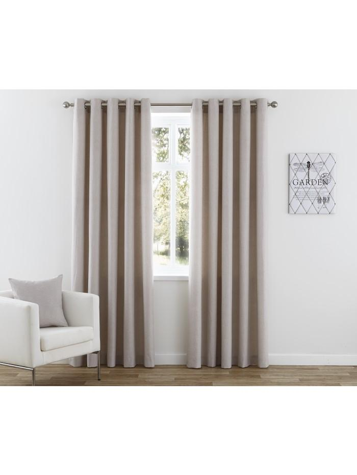 Nevada Eyelet Curtains Taupe