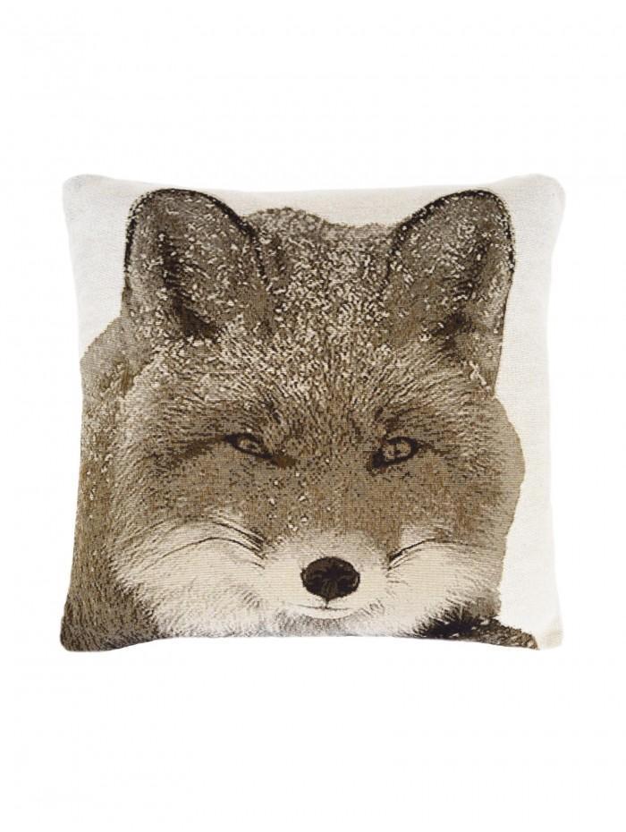 Winter Fox Cushion Natural
