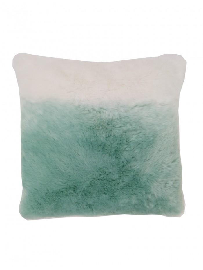 Faux Fur Ombre Cushion Duck Egg