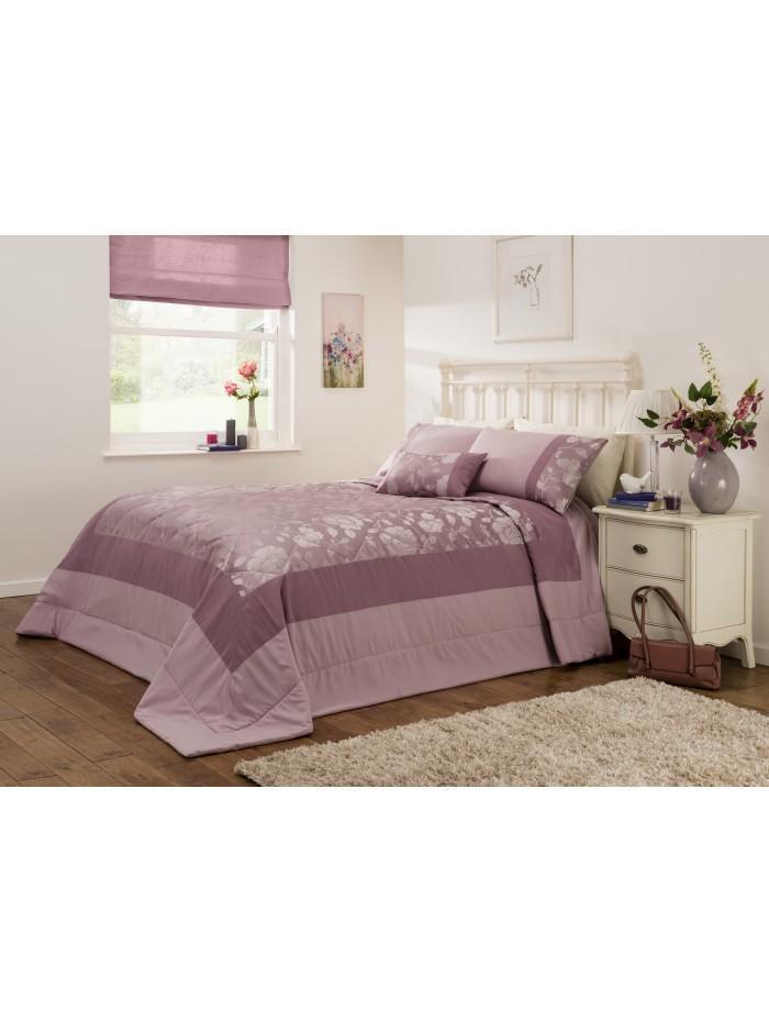 Penelope Jacquard Bedspread Heather