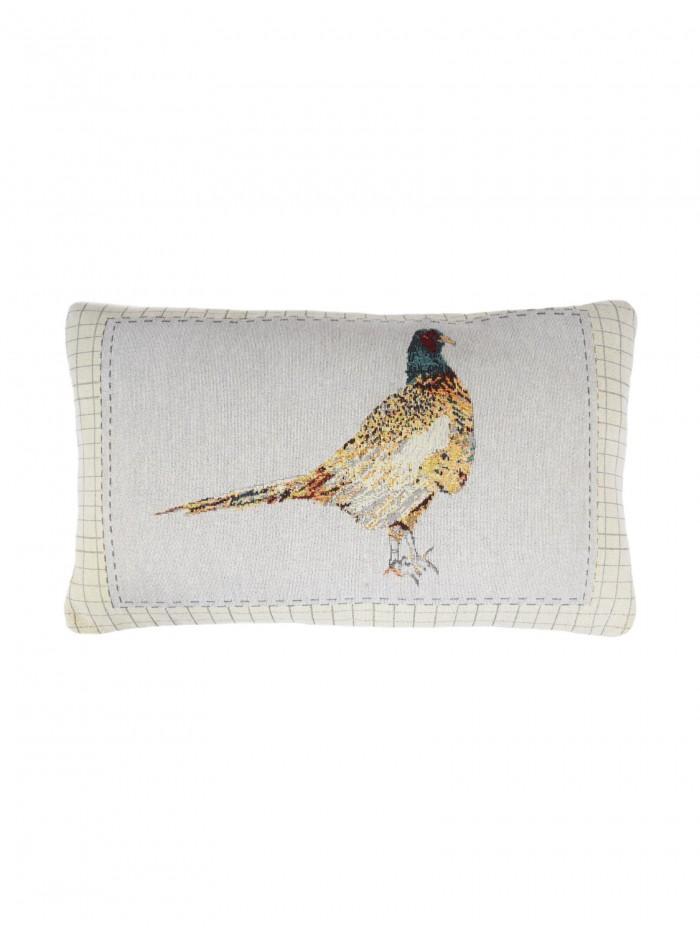 Pheasant Cushion Natural