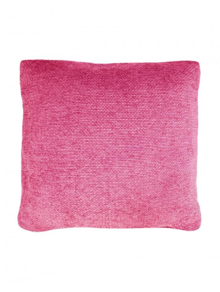 Plain Chenille Cushion Pink