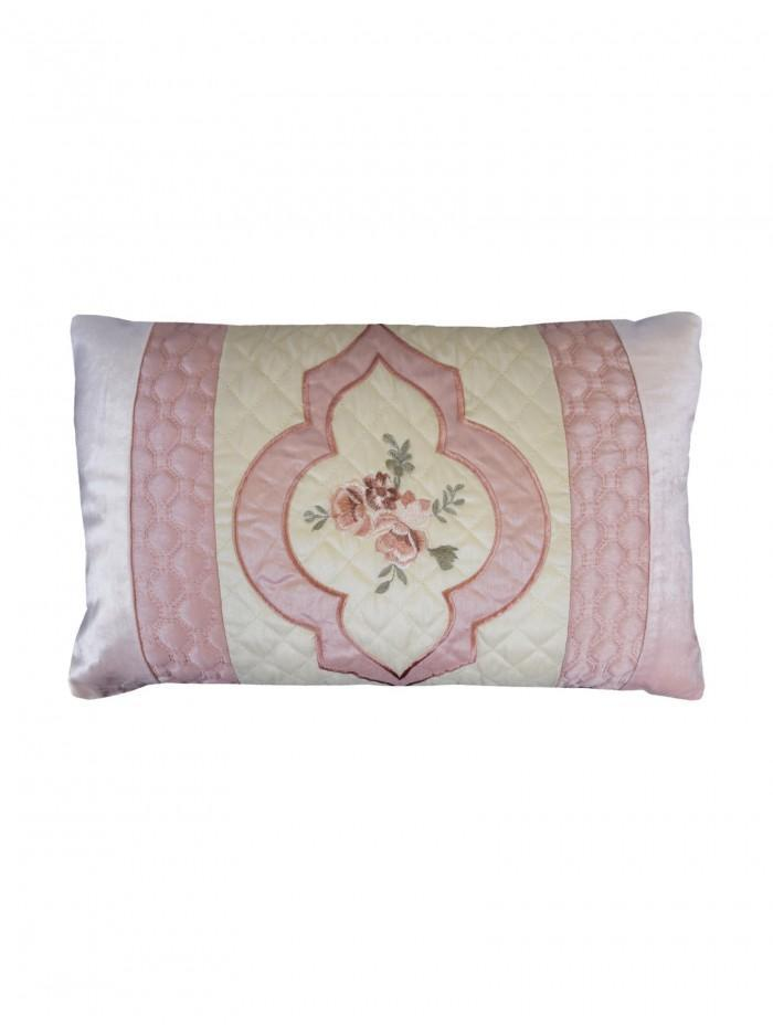 Cameo Quilted Cuff Cushion Pink