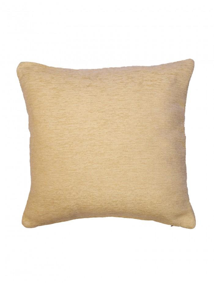 Plain Chenille Cushion Cream