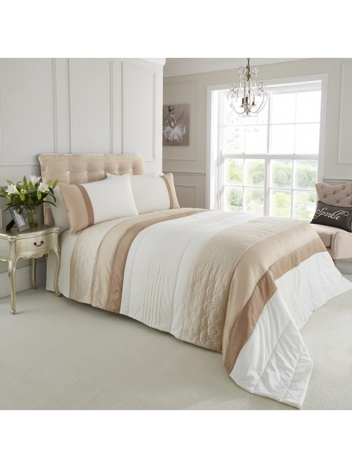 Quilted Fan Bedspread Gold