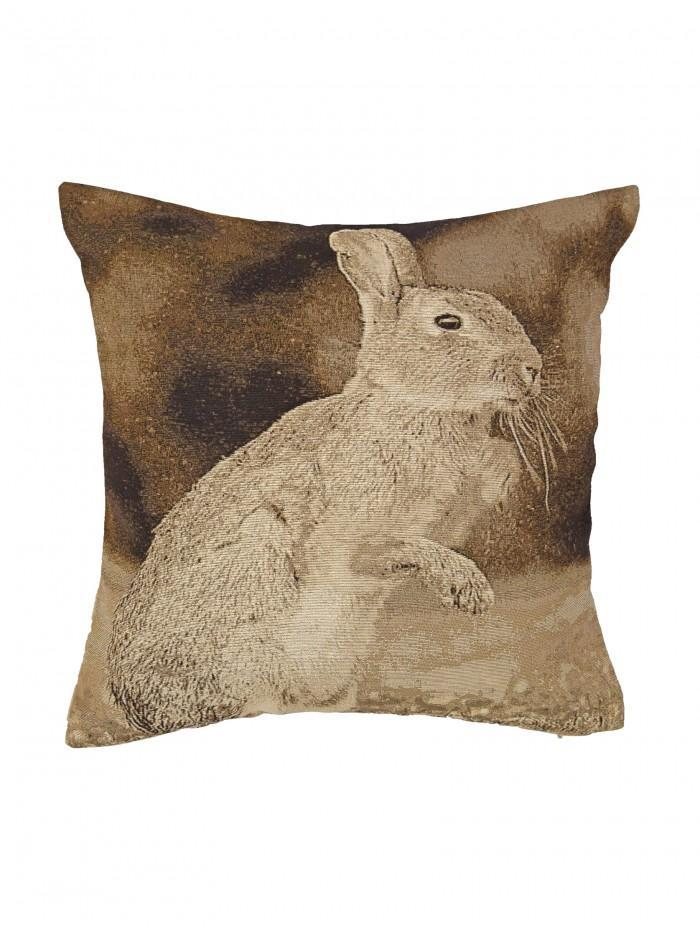 Rabbit Jacquard Cushion Grey