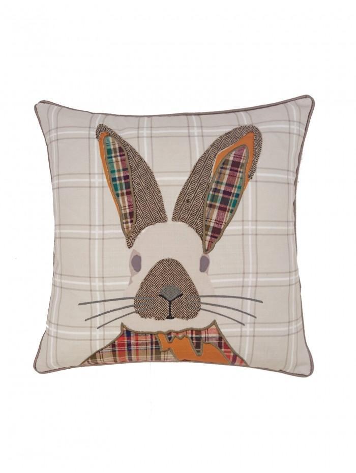 Patchwork Rabbit Cushion Orange